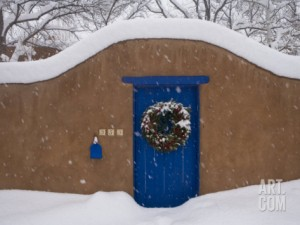 Santa Fe Blue Door Christmas