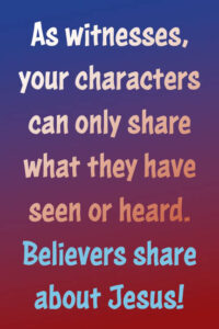 Just avoid preaching with character witness in daily life